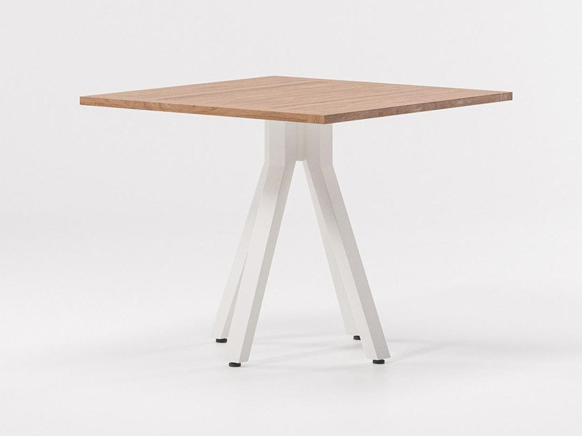 Square teak table VIEQUES | Square table by Kettal