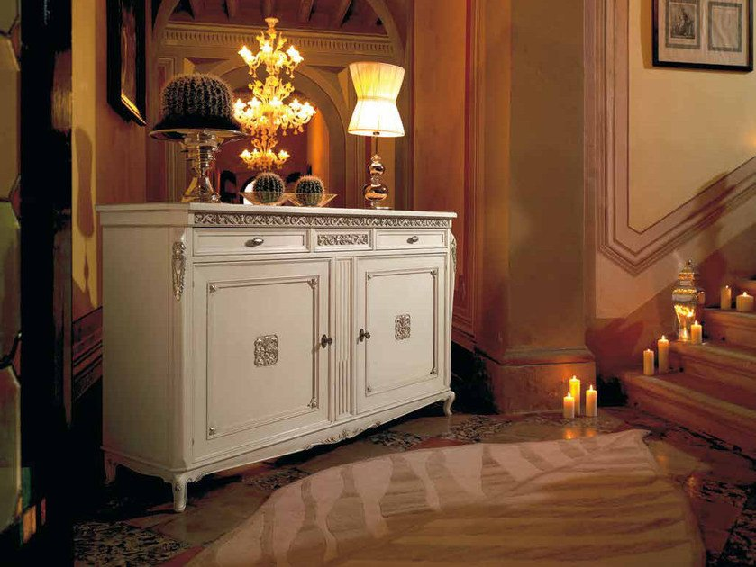 Solid wood sideboard with doors VILLA | Sideboard by Arvestyle