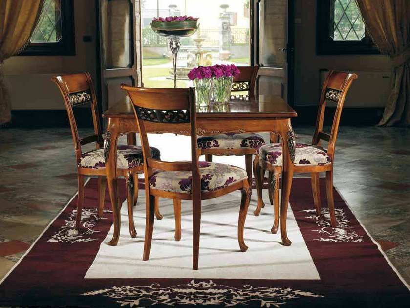 Extending solid wood table VILLA | Square table by Arvestyle