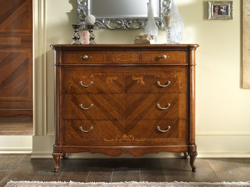 Walnut chest of drawers VILLA GIUSTI | Chest of drawers by MOLETTA