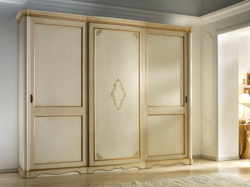 Lacquered walnut wardrobe with sliding doors VILLA GIUSTI | Lacquered wardrobe by MOLETTA