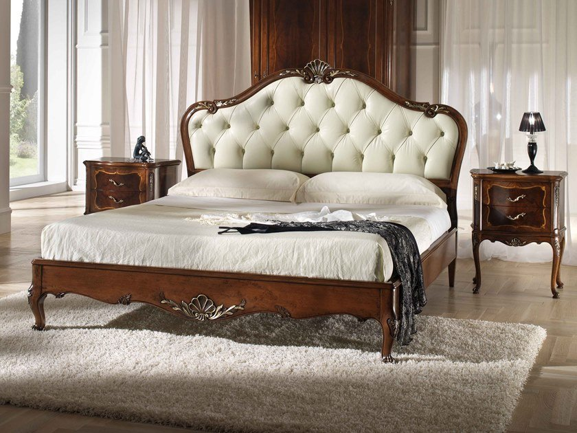 Double bed with tufted headboard VILLA PISANI | Bed by MOLETTA