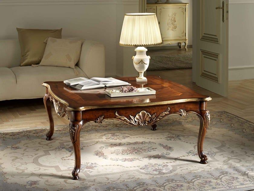 Square walnut coffee table VILLA PISANI   Square coffee table by MOLETTA