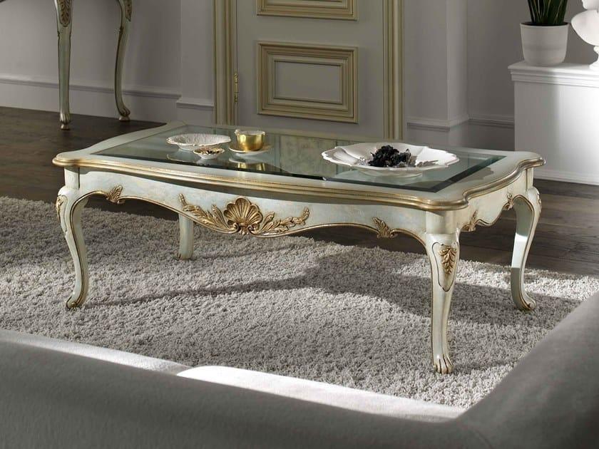 Rectangular walnut coffee table VILLA PISANI | Rectangular coffee table by MOLETTA