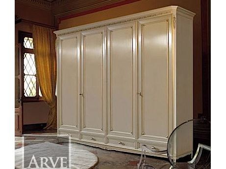 Wooden wardrobe with drawers VILLA | Wardrobe by Arvestyle