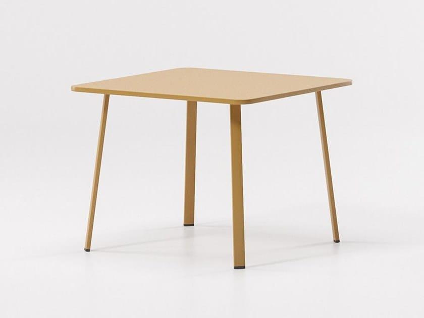 Square aluminium garden table VILLAGE   Square table by Kettal