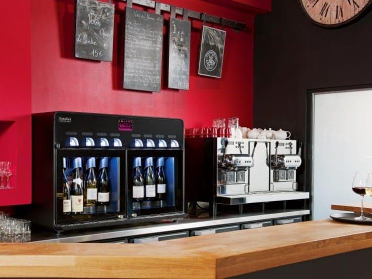 Steel Wine dispenser VIN AU VERRE 8.0   Wine dispenser by EuroCave