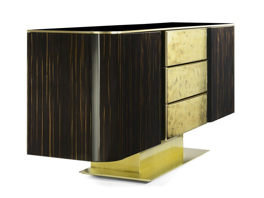 Wooden sideboard with drawers VINCENT | Sideboard with drawers by MARIONI