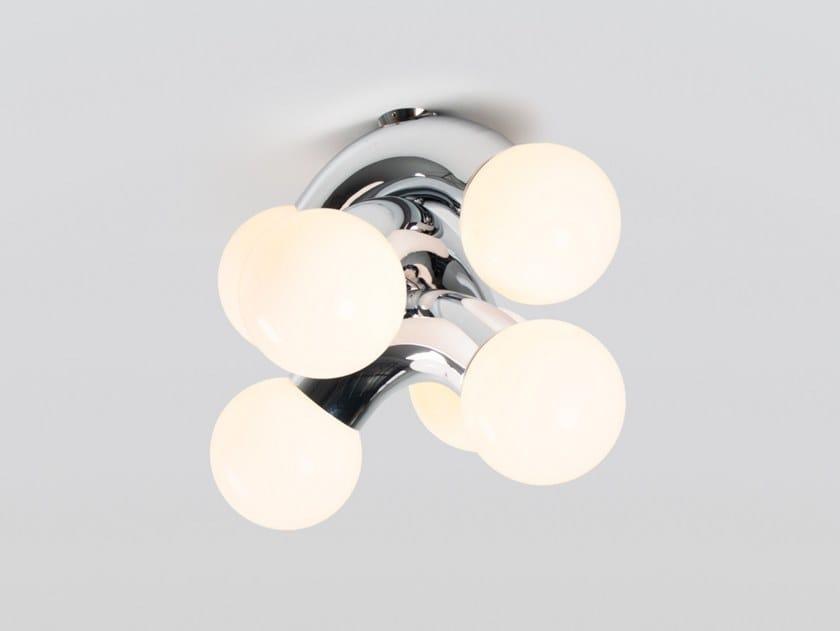 Lampada da soffitto a LED in acciaio e vetro VINE 3   Lampada da soffitto by ANDlight
