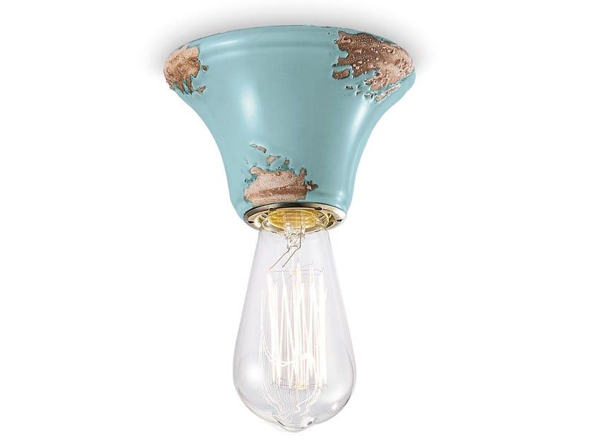 Round ceramic ceiling light VINTAGE | Ceramic ceiling light by FERROLUCE