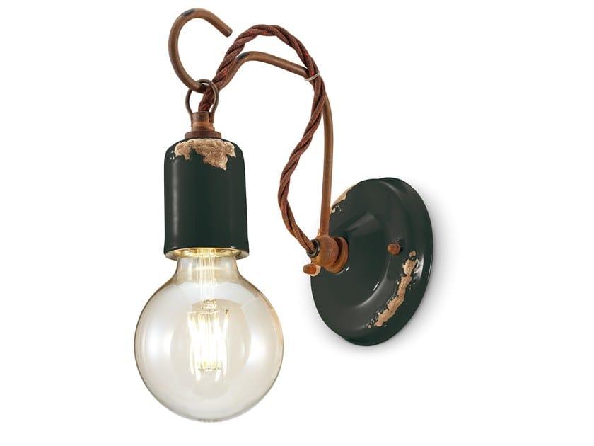 Applique in ceramica con braccio fisso VINTAGE | Applique a luce diretta by FERROLUCE