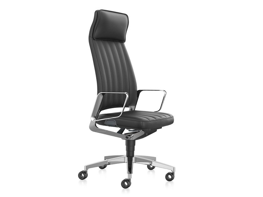 Swivel leather executive chair VINTAGE IS5 32V4 by Interstuhl
