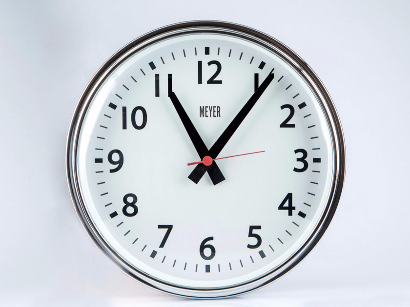 Wall-mounted plate clock VINTAGE by Meyer Objects