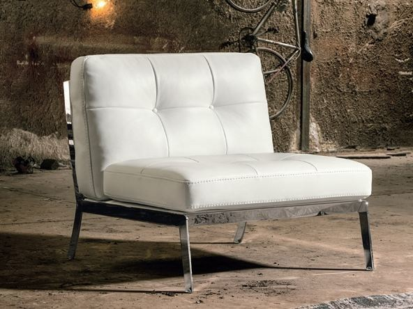 Leather fireside chair VIOLETTA by Max Divani