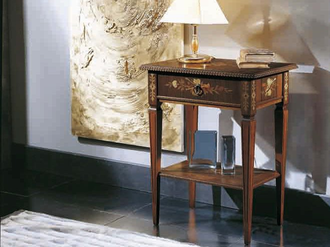 Rectangular solid wood side table VIOLINO by Arvestyle