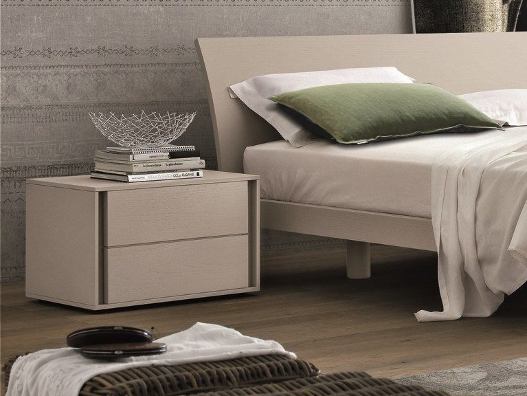 Lacquered bedside table with drawers VIP | Lacquered bedside table by Gruppo Tomasella