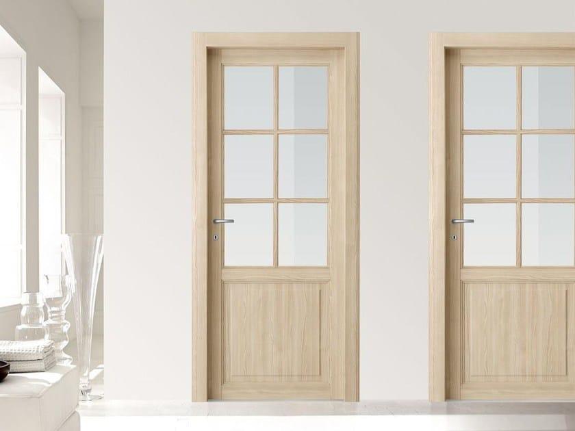 Hinged wood and glass door VIRGINIA by Door 2000