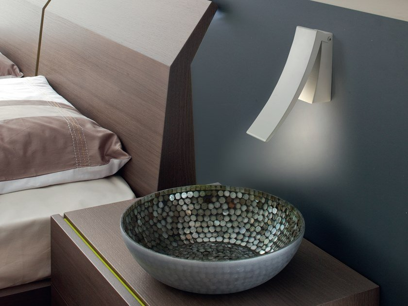 LED adjustable metal wall lamp VIRGOLA by Cattaneo