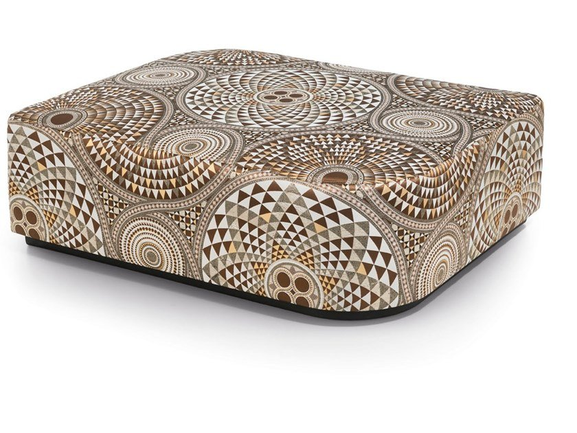 Upholstered rectangular fabric pouf VISCONTI | Pouf by Sicis