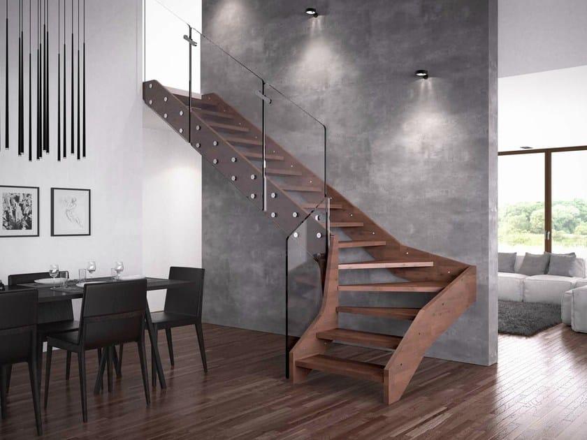 Escalera abierta de madera visio by rintal for Escaleras rintal
