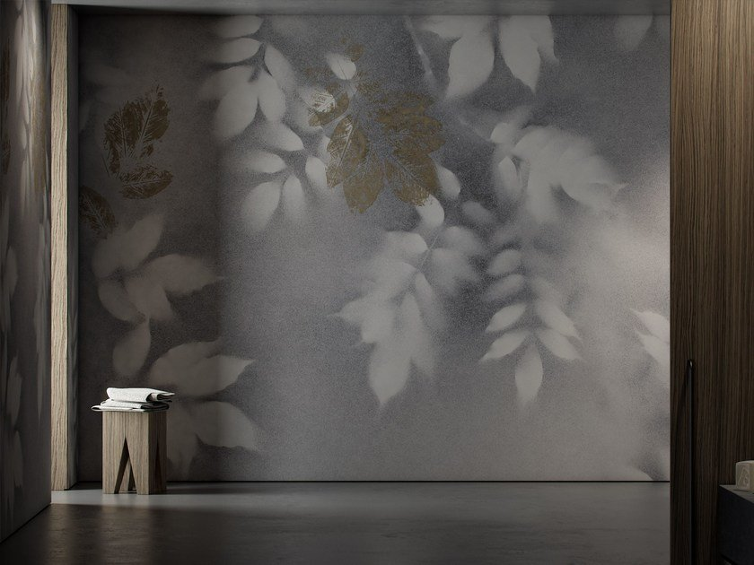 Washable vinyl wallpaper with floral pattern VISION by GLAMORA