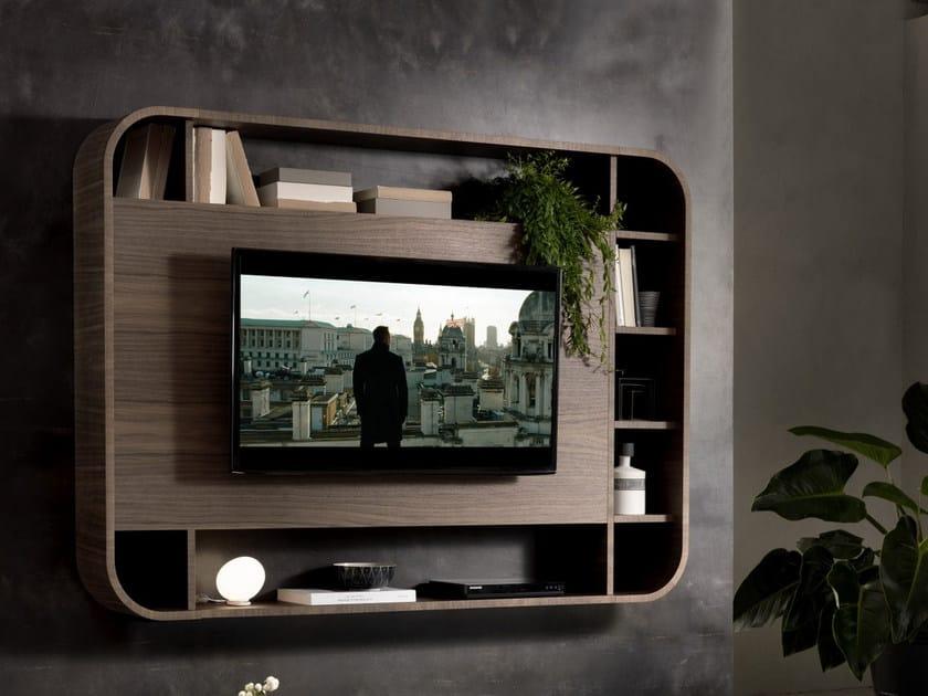Mobile TV con libreria VISION TV by Pacini & Cappellini