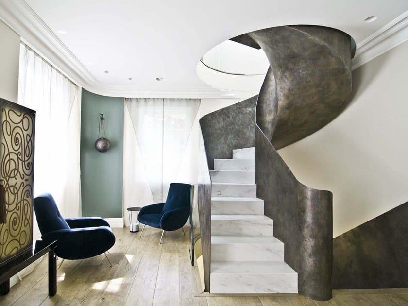 Scala a chiocciola speciale a disegno VISTA PROJECT by Officine Sandrini