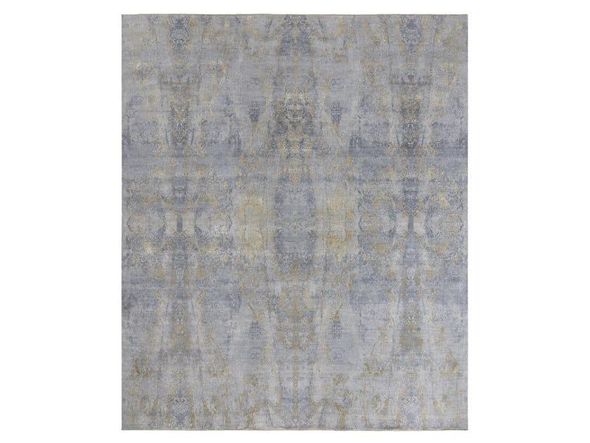 Handmade custom rug VISUAL GREY GOLD by Thibault Van Renne