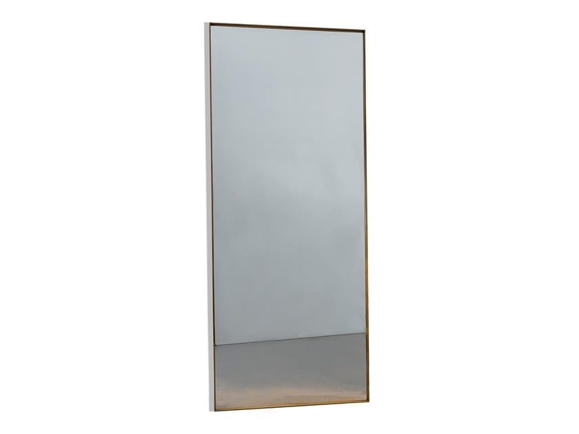 Wall-mounted rectangular mirror VISUAL RECTANGULAR by Sovet italia