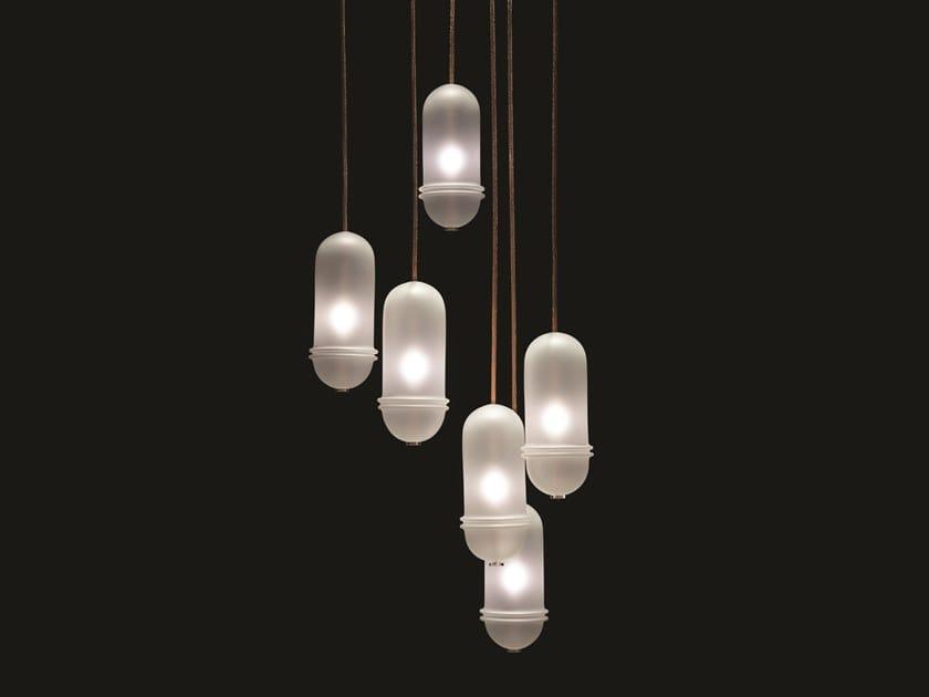 Blown glass pendant lamp VITAMINE by melogranoblu