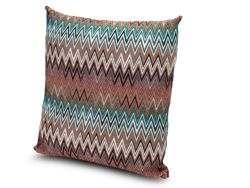 Geometric fabric cushion VITIM by MissoniHome