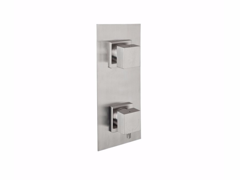 Thermostatic stainless steel shower mixer VITRUVIO 33P2 by MINA