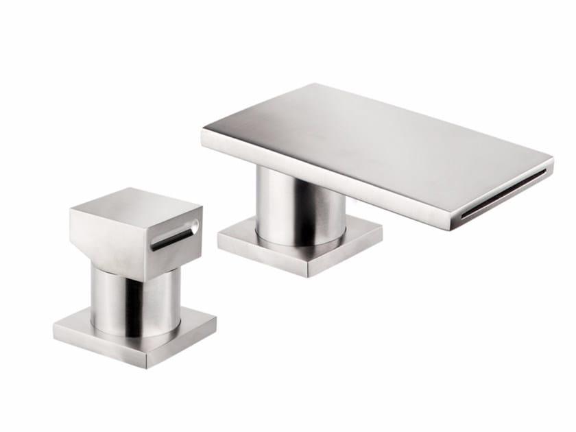 2 hole countertop stainless steel washbasin mixer VITRUVIO BSP100+3090 by MINA