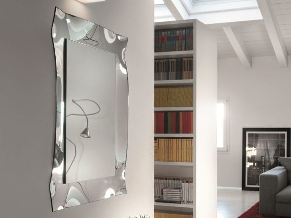 Wall-mounted rectangular mirror VIVA | Framed mirror by RIFLESSI