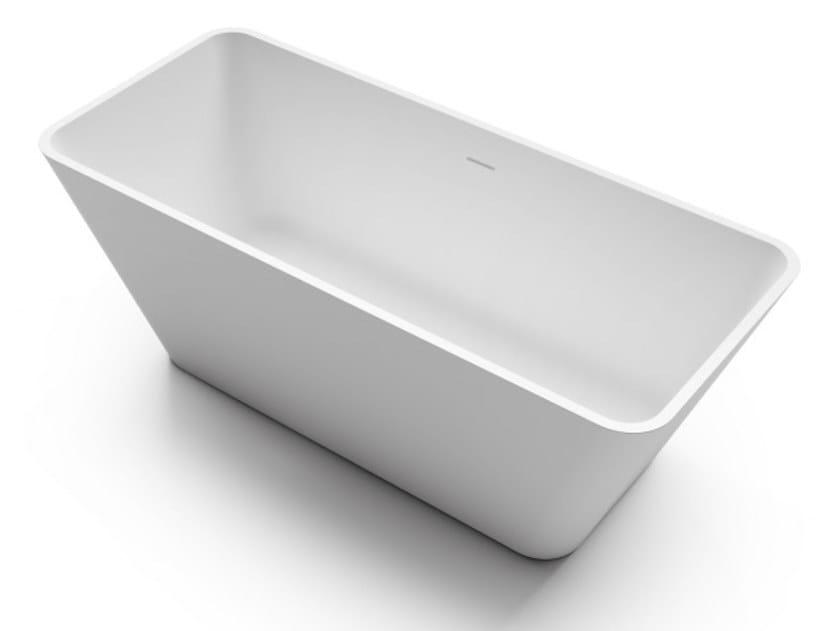 Freestanding rectangular bathtub VIVA by Gruppo Treesse