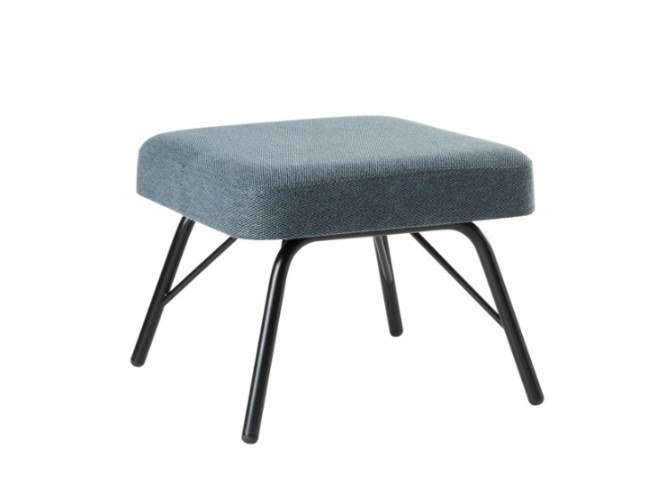 Fabric footstool with metal base VIVA PF01 BASE 21 by New Life