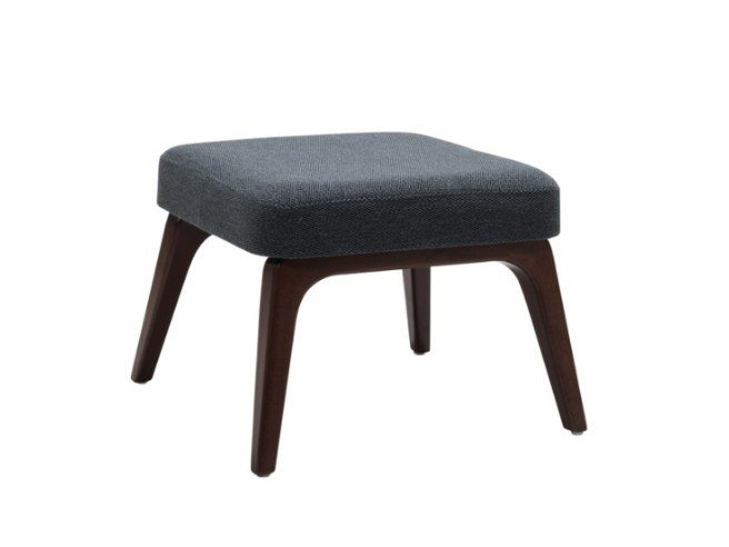 Fabric footstool with beech legs VIVA PF01 BASE 10 by New Life