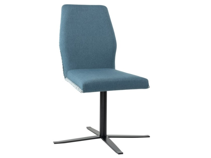 Upholstered fabric chair with 4-spoke metal base VIVA SE01 BASE 24 by New Life