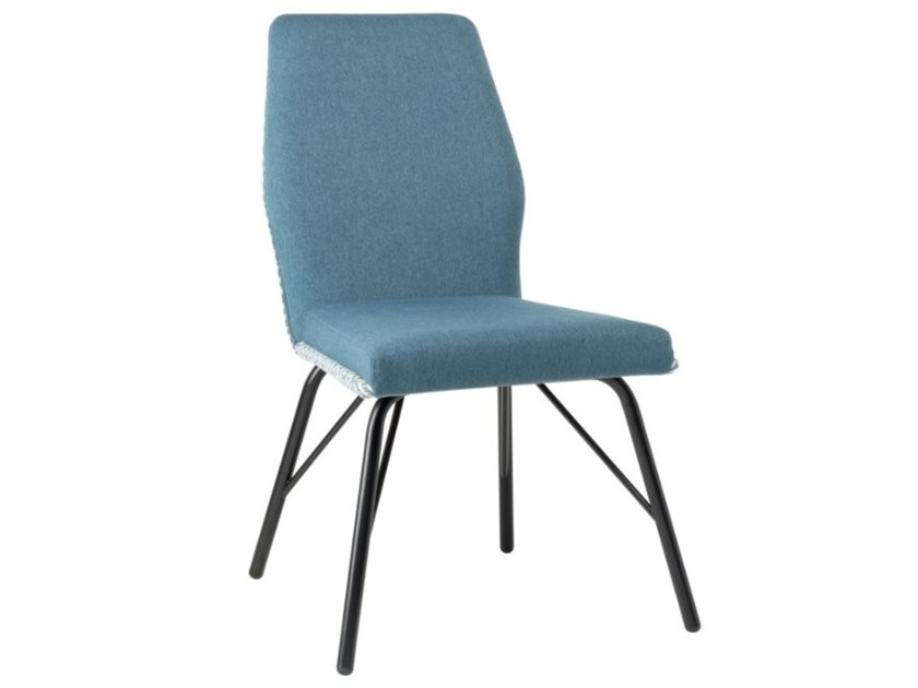Upholstered fabric chair with metal base VIVA SE01 BASE 21 by New Life