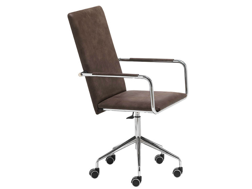 Swivel Chair With 5 Spoke Base With Casters VIVO DPA | High Back Chair