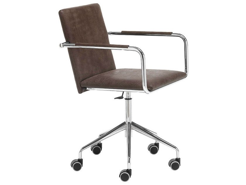 Chair with 5-spoke base with armrests VIVO DPB   Chair with casters by Midj