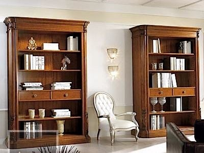 Open solid wood bookcase VIVRE LUX | Solid wood bookcase by Arvestyle