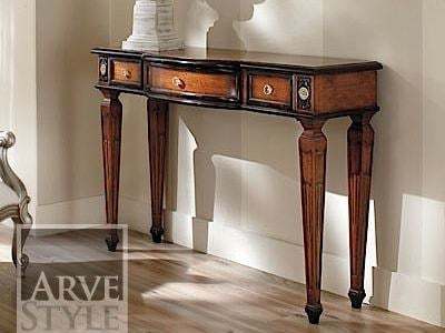 Rectangular solid wood console table VIVRE LUX | Lacquered console table by Arvestyle