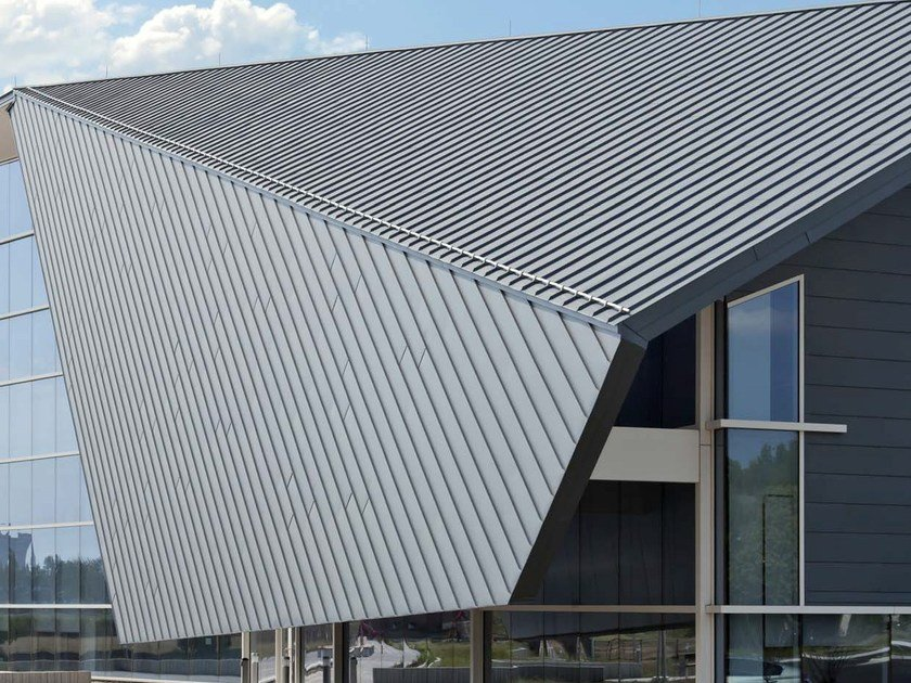 Metal sheet and panel for roof VMZ DOPPIA AGGRAFFATURA by UMICORE VMZINC