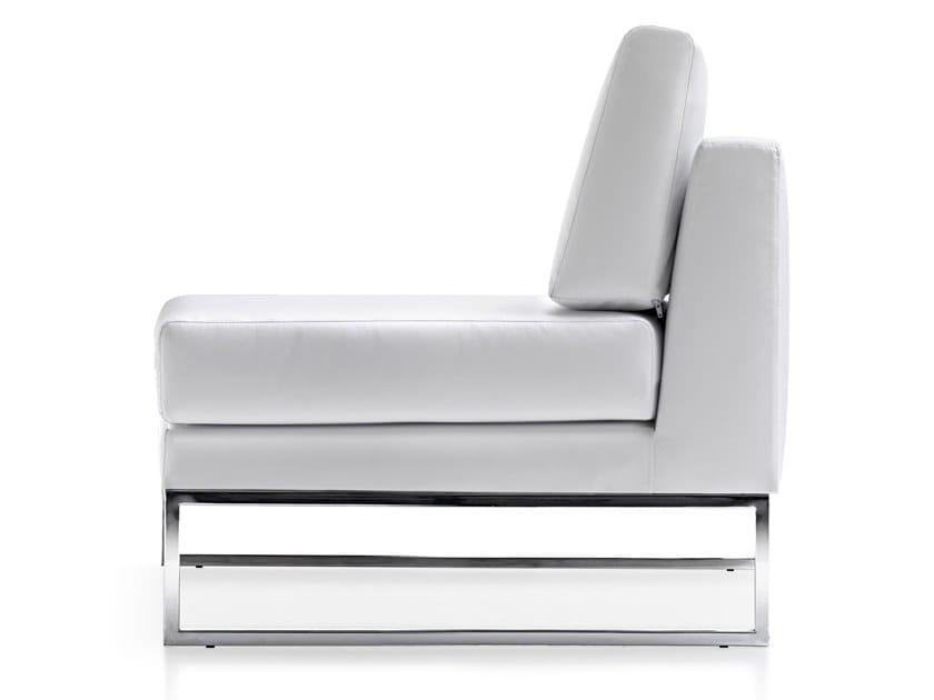 Sled base fabric armchair VOGUE | Armchair by Quinti Sedute