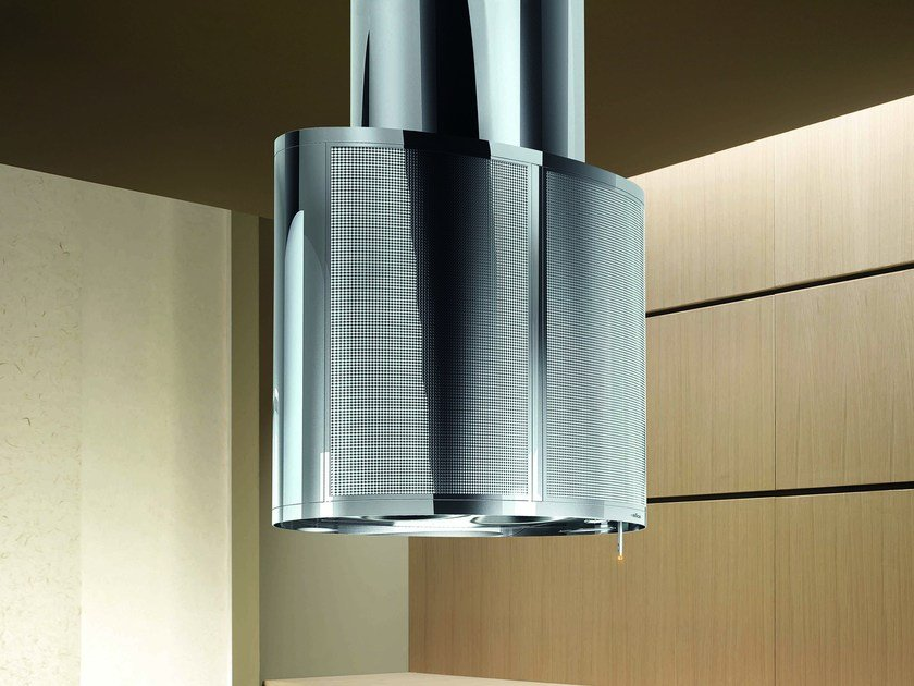 Stainless steel island hood VOGUE by Elica