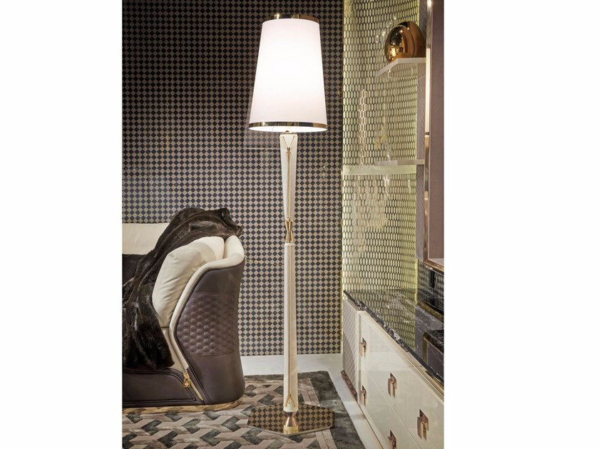 Vogue floor lamp by turri leather floor lamp vogue floor lamp by turri aloadofball Image collections