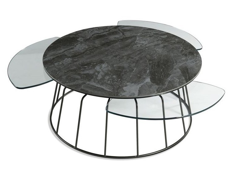 Lacquered round coffee table VOGUE | Round coffee table by ROCHE BOBOIS