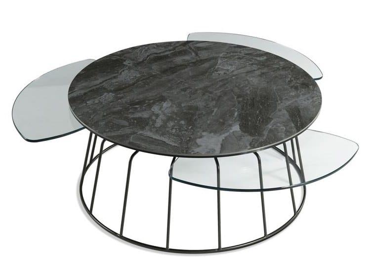 Tavolino laccato rotondo VOGUE | Tavolino rotondo by ROCHE BOBOIS
