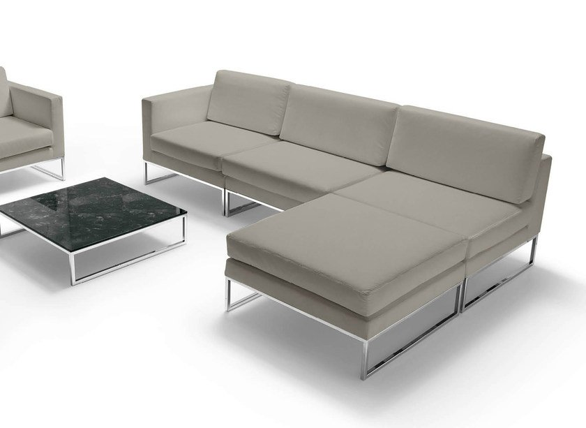 VOGUE Sofa with chaise longue Vogue Collection By Quinti Sedute